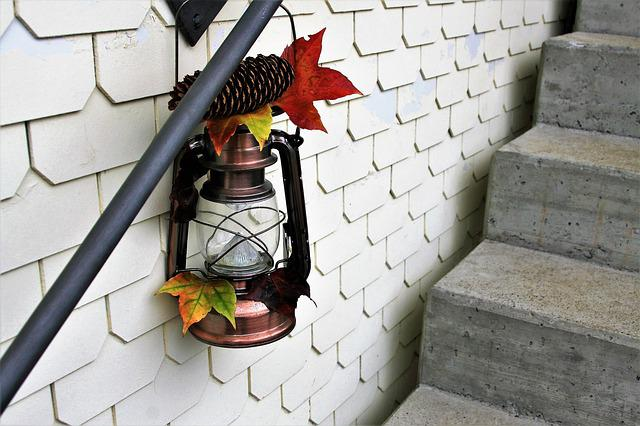 Stairs, Replacement Lamp, Copper, Autumn, Mood, Old