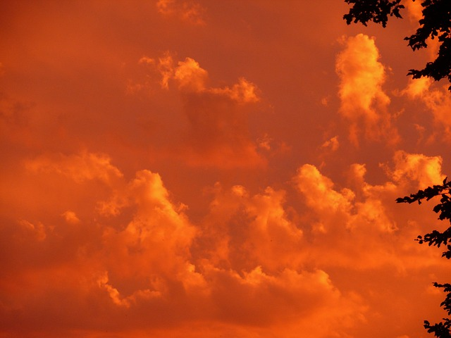 Sunset, Red, Sky, Clouds, Orange, Mood, Evening