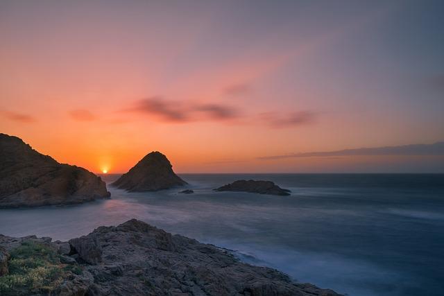 Background, Sunset, Abendstimmung, Mood, Bright, Sea