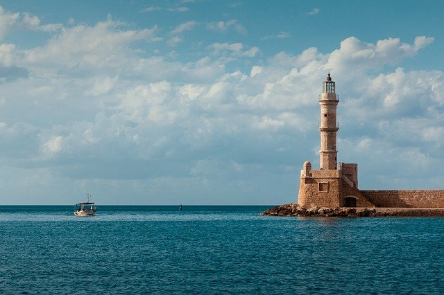 Lighthouse, Sea, Mood, Clouds, Mirroring, Ship