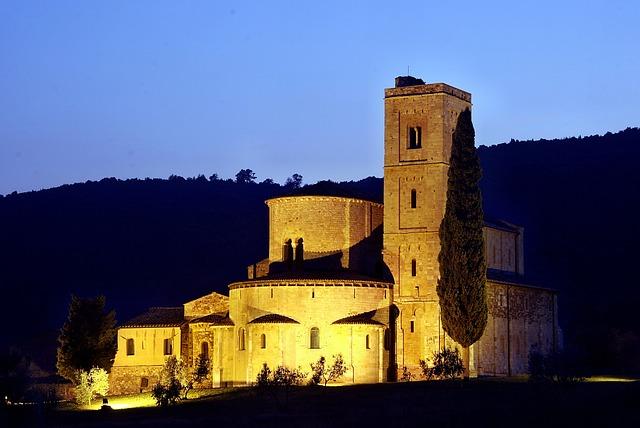 Tuscany, Blue Hour, Italy, Mood