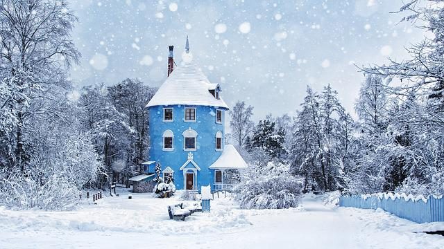 Winter, Snow Rain, Moomin World, Moomin, Landscape, Ice