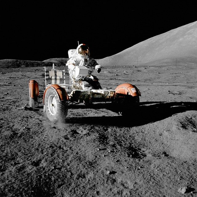Moon Vehicle, Astronaut, Space Travel, Moon Buggy