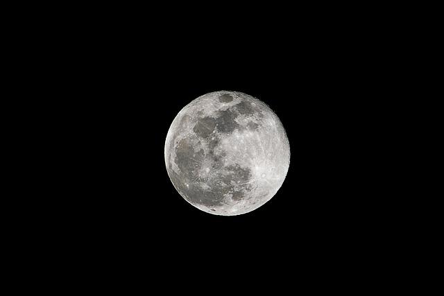 Moon By Night, Full Moon, Moon