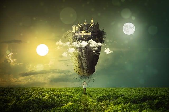 Equinox, Sun, Moon, Landscape, Mystical, Clouds, Nature