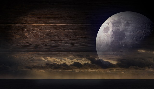 Moon, Sea, Clouds, Light, Mystical, Full Moon, Sky