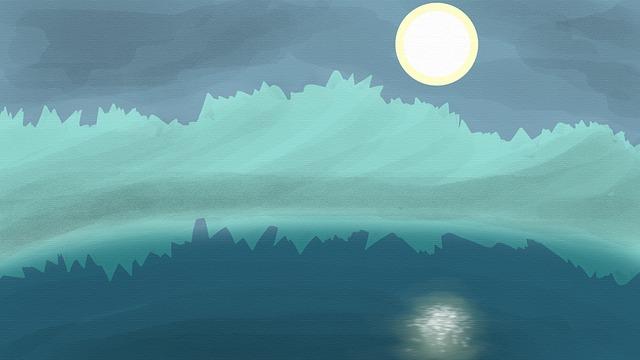Ice, Cold, Iceberg, Moon, Water, Landscape, Ocean