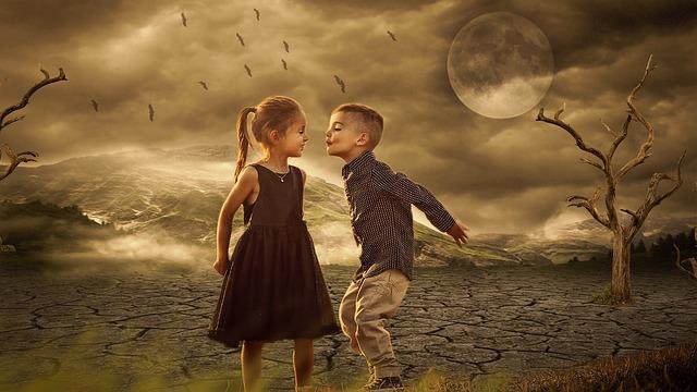 Super Moon, Night, Love, Moon, Dark, Nature, Dusk