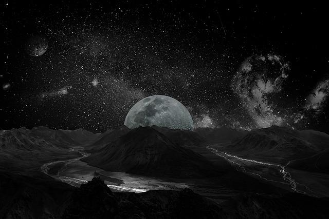 Moon, Universe, Space, Milky Way, Galaxy, Planet