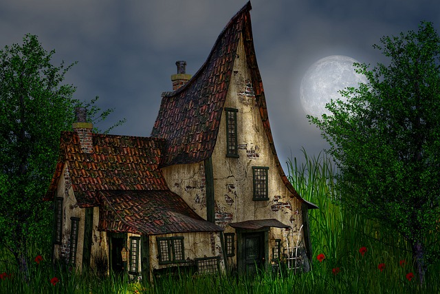The Night, Moon, Nature, Night, House, Night Sky