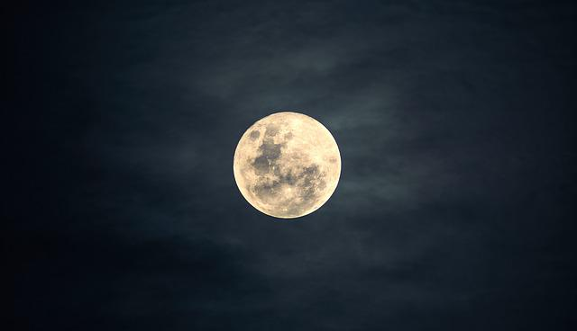 Moon, Sky, Night, Moonlight, Nature, Dark, Peaceful