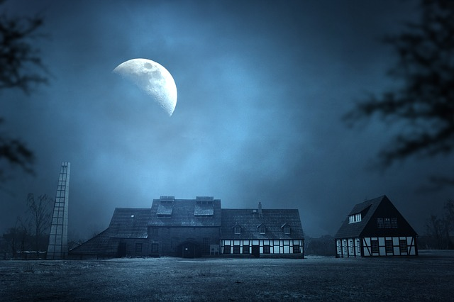 Night, Moon, Old Elisabeth, Homes, Historically, Saxony