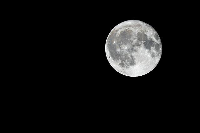 Full Moon, Moon, Night, Moonlight, Sky, Lunar