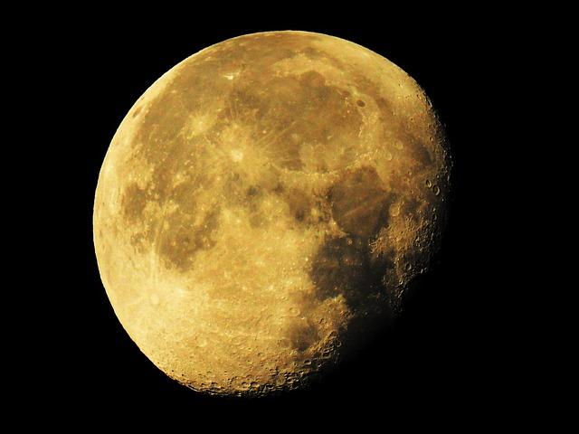 Super Moon, Moon, Waning Moon, Luna, Space