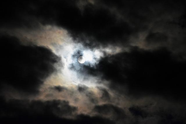 Moon, Night Black, Full Moon, Supermoon