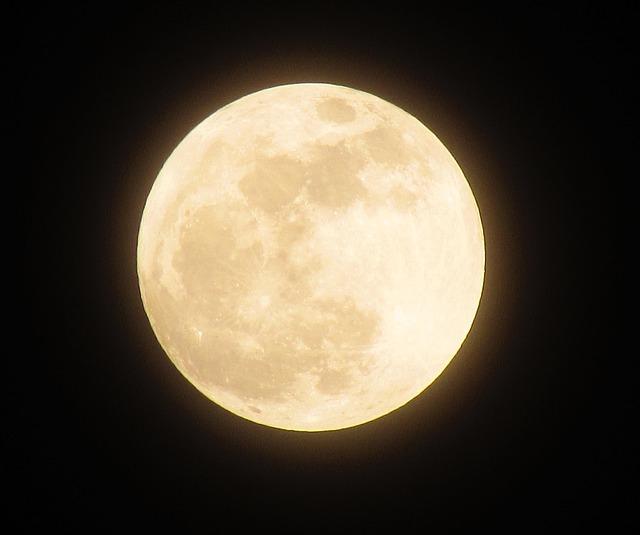 Moon, Full Moon, Night, The Night Sky, Fullmoon