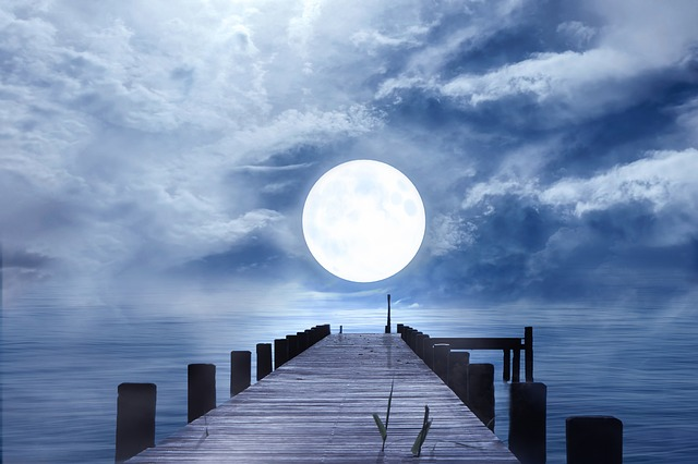 Good Night, Full Moon, Moonlight, Night, Moon, Mood