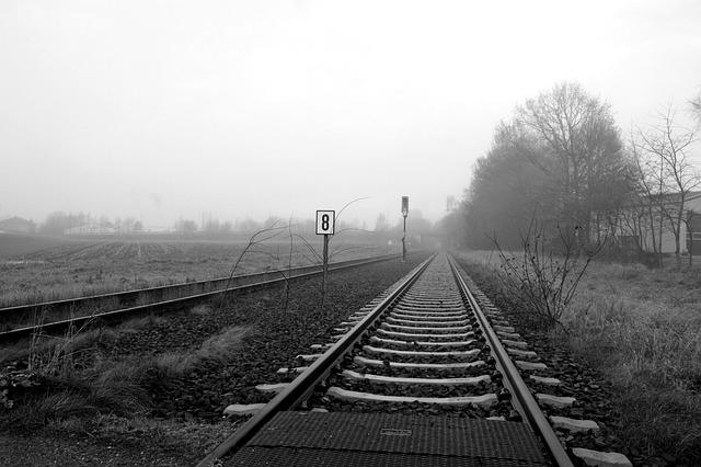 Railway, Railway Line, Train, Transport System, Moor