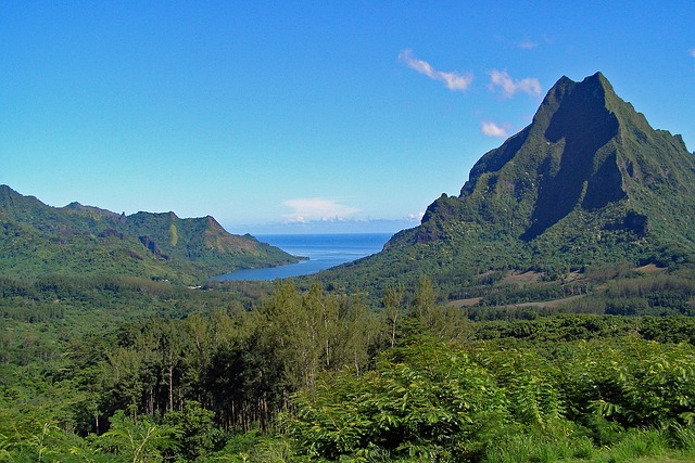 Moorea, French, Polynesia, Society, Sland, Tropical