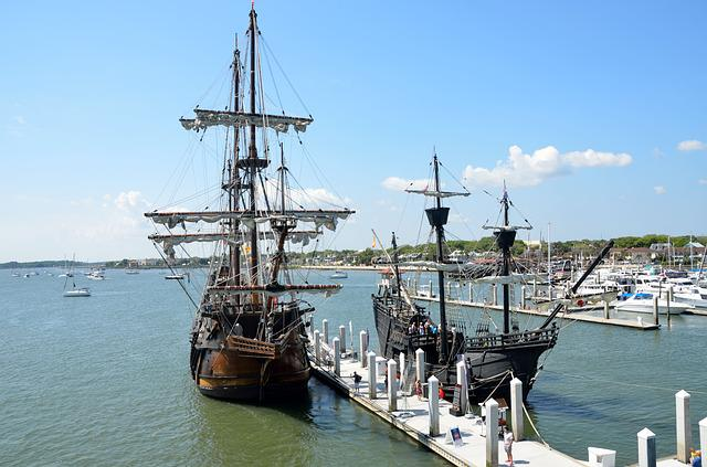 Galleon, Ship, Historic, Moored, Sail, Vessel, Nautical
