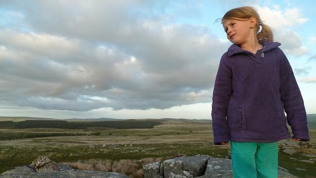 Girl, Wild, Nature, Moorland, Dartmoor, Landscape