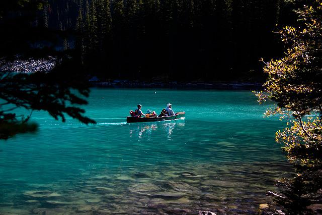 Moraine Lake, Canada, Alberta, Banff, Lake, View, Canoe