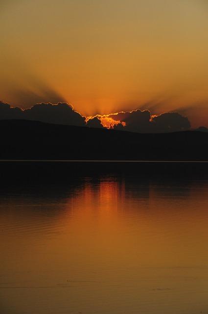 Sunset, More, Landscape, Water Macedonia, Macedonia