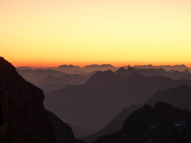 Mountains, Morgenrot, Alpine Panorama, Sunrise, Alpine