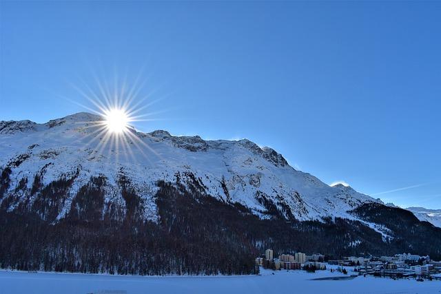 Winter, Mountains, Ski Area, Slopes, Wintry, St, Moritz