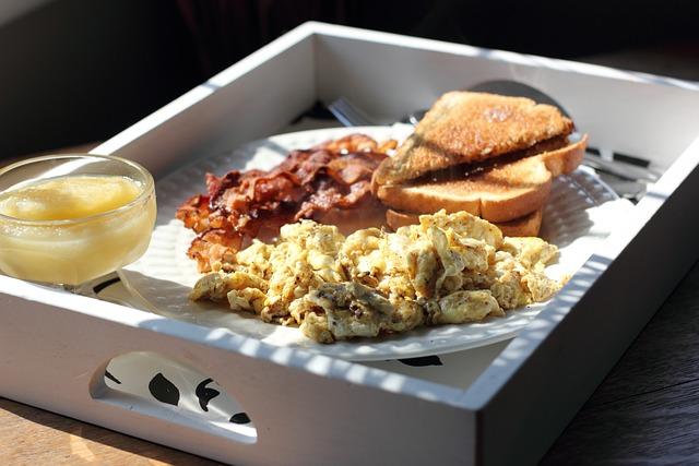 Scrambled Eggs, Breakfast, Morning, Food, Meal, Eating