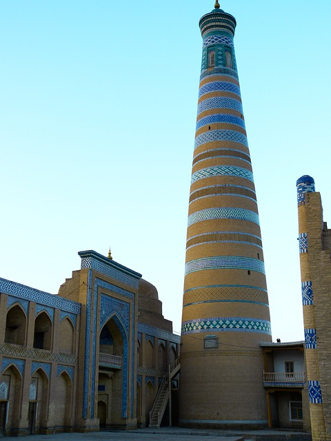 Khiva, Morning, Chodja Islam Minaret, Morgenstimmung