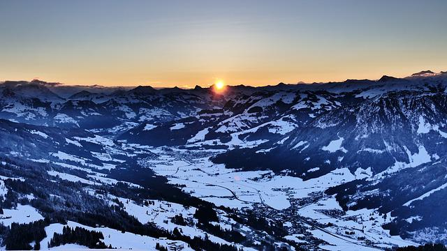 Sunrise, High Salve Austria, Morning Mood Most Mountain