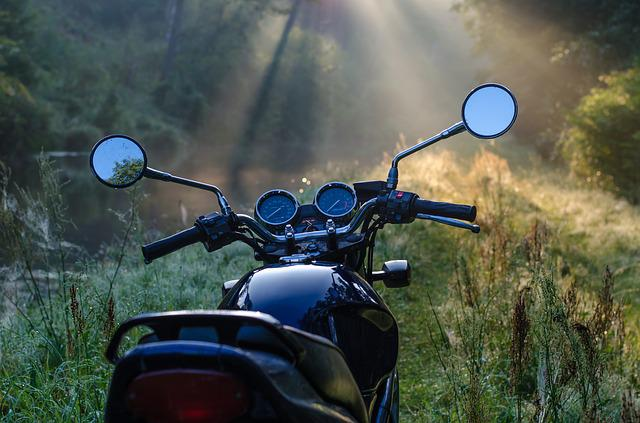 Motorcycle, Morning, Forest, Light, Vehicle