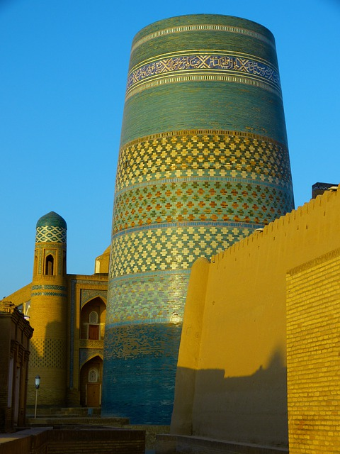 Khiva, Morning, Kalta Minor, Short Minaret
