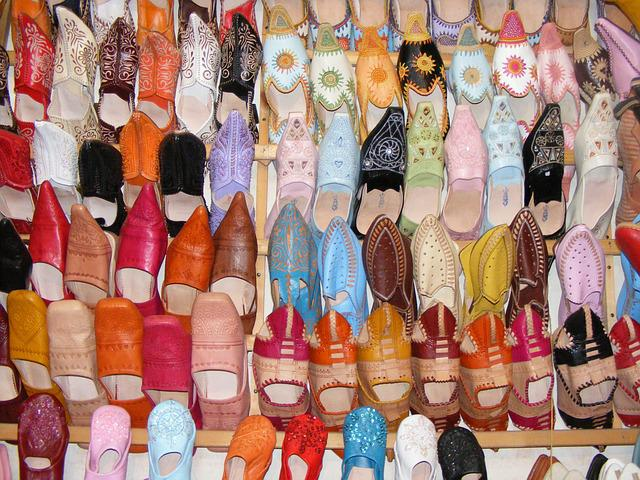 Shoes, Morocco, Marrakesh, Moroccan, Souk, Colorful