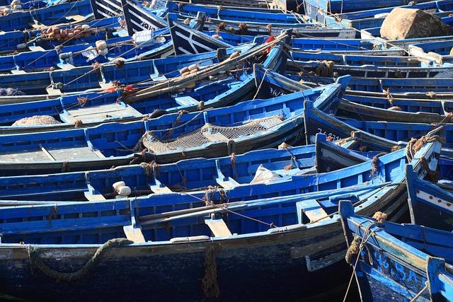 Morocco, Essaouira, Fishing, Boats