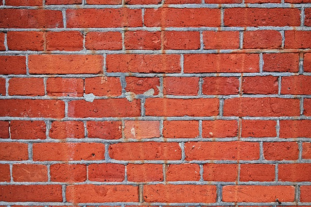 Brick Wall, Wall, Red Brick Wall, Seam, Mortar, Cement