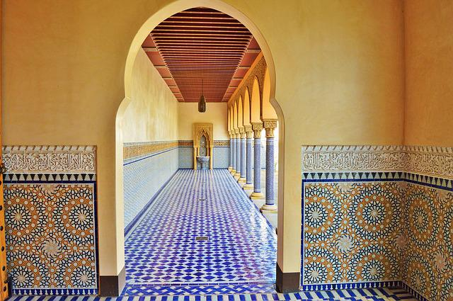 Oriental Garden, Ambulatory, Tiles, Tile, Mosaic