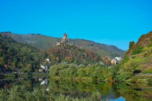 Landscape, Travel, Reichsburg Cochem, Mosel, Castle