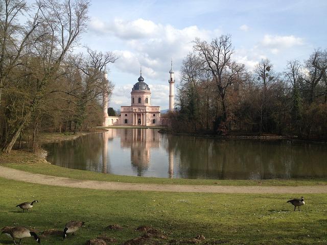 Schwetzingen, Romance, Moshe, Trees, Water, Romantic