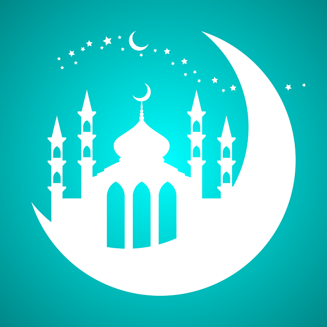 Mosque, Moon, Stars, Night, Element, Decoration, Design