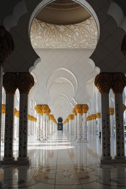Mosque, Abu Dhabi, White Mosque, Emirates, Orient