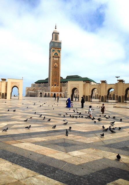 Mosque, Hassan Ii, Morocco, House Of Prayer, Minaret