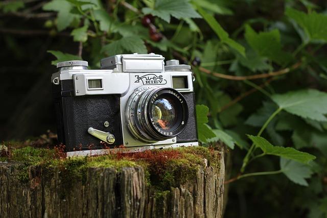 Camera, Vintage, Kiev, Old, Moss, Retro