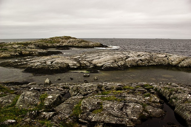 Rocks, Atlantic, Norwegian Sea, The Atlantic Road, Moss
