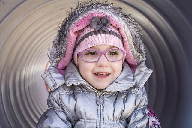 Kid, Little Girl, Nice, Glasses, Moth