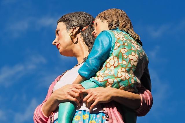 Figures, Mother, Art, Sculpture, Statue, Woman, Child