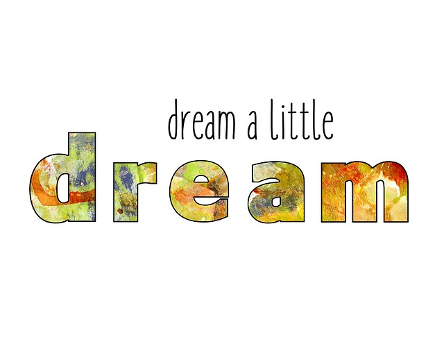 Dream Word Art Text Motivation Inspiration