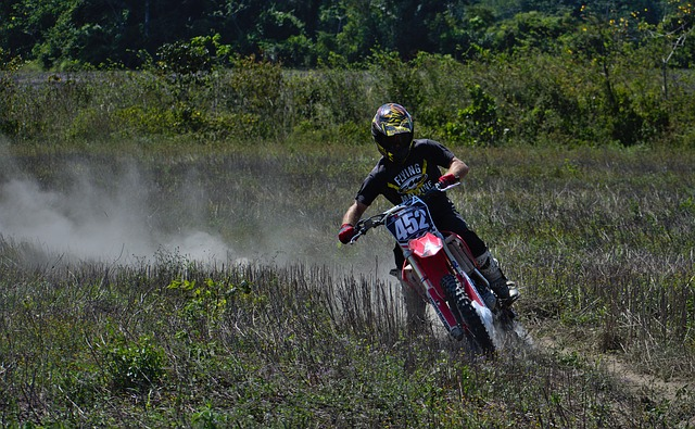 Outdoors, Recreation, Motocross, Sport, Drift, Dust