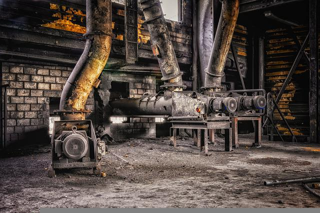 Industry, Factory, Motor, Tube, Abandoned, Past